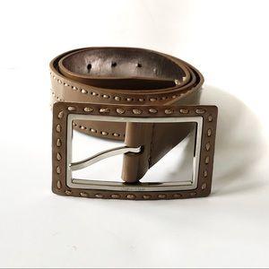Calvin Klein Stitched Patent Belt